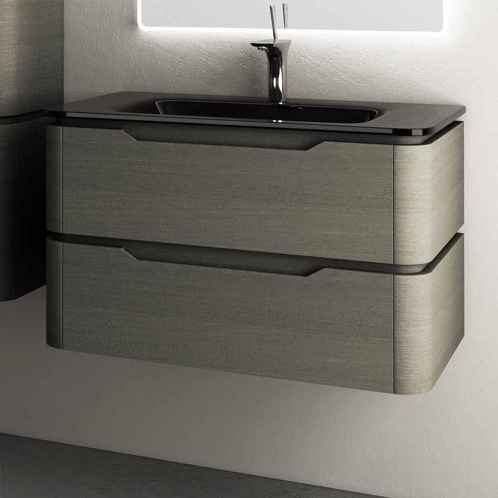 Nowoczesny design podwieszany zlewozmywak 85x55x55cm lakierowane drewno arya - Viadurini bagno ...