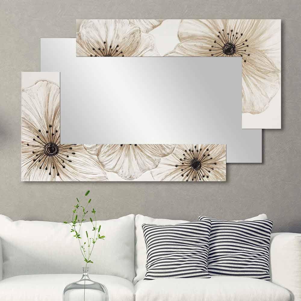 Lustro dekoracyjne na cian sabbiate viadurini decor - Specchio design da parete ...