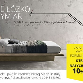 Zapytaj o Twoje łóżko na wymiar - 100% Made in Italy