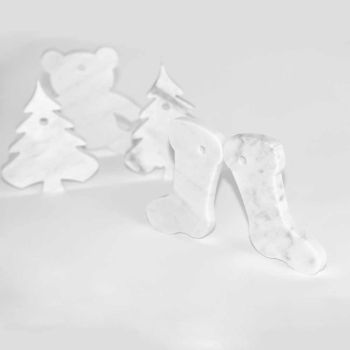 10 ozdób choinkowych w luksusowym wzornictwie z białego marmuru z Carrary - dekoracje