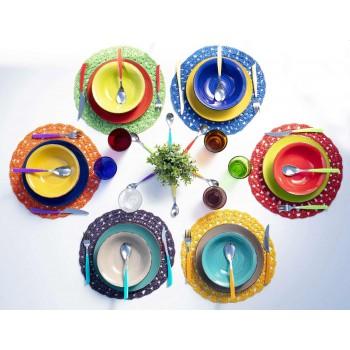 12 szklanek Water Craft Service z kolorowego szkła dmuchanego - Jukatan