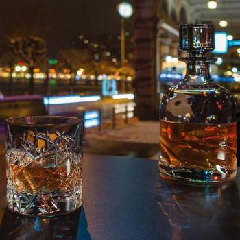 12 szklanek Dof Vintage do wody lub whisky w kolorze Crystal - Titanium