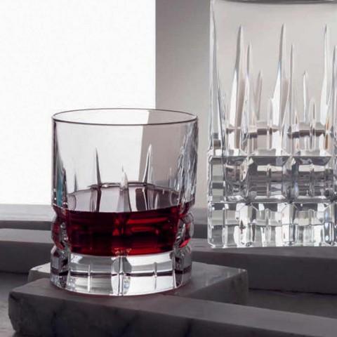 12 podwójnych szklanek do whisky Basso Double Old Fashioned w kolorze Crystal - Fiucco