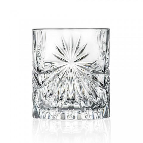 12 podwójnych staromodnych szklanek w stylu Eco Crystal - Daniele
