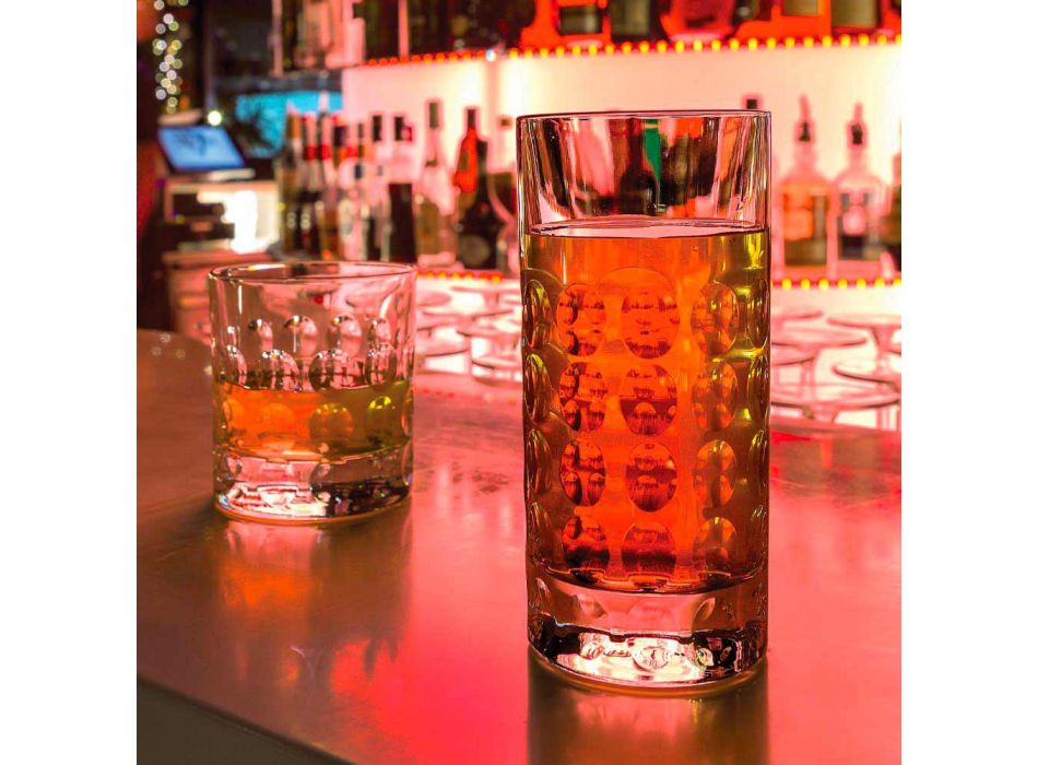 12 szklanek typu highball do napojów bezalkoholowych lub long drinków w kolorze Eco Crystal - Titanioball