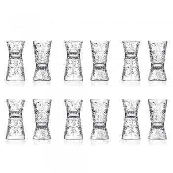 12 luksusowo zdobionych kieliszków Jigger z ekologicznego kryształu - przeznaczenie