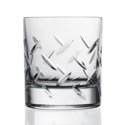 12 szklanek do whisky lub wody z ekokryształu z drogocennymi zdobieniami - arytmia