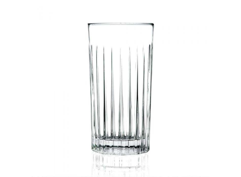 12 Tumbler Tall Highball szklanki z ozdobnym kryształem Eco - Senzatempo