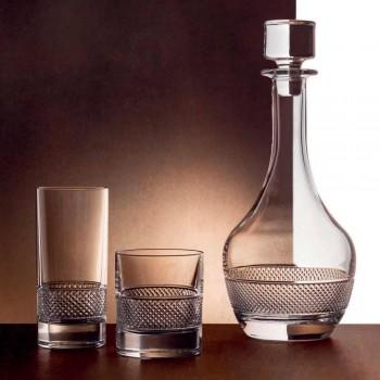 12 Wysokich Szklanek Szklanki z Ekologicznego Kryształu Zdobionego Luksusowo - Milito