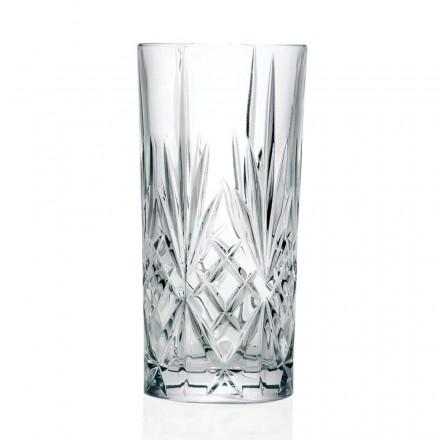 12 szklanek, wysoka szklanka, highball do koktajli z ekokryształu - Cantabile