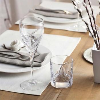 12 niskich szklanek w luksusowym stylu Eco Crystal - Montecristo