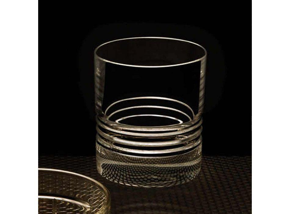 12 Podwójnych szklanek do whisky ze staromodnymi kryształami - Arytmia
