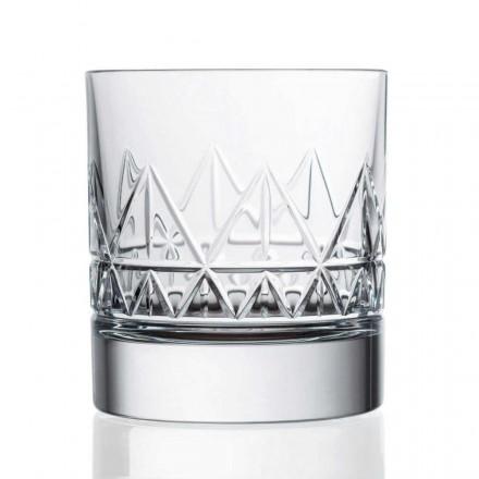 12 kryształowych luksusowych szklanek do whisky lub wody w stylu vintage - arytmia