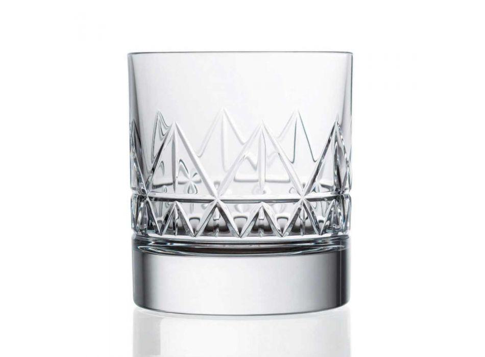 12 Szklana whisky lub woda Luksusowy nowoczesny design w kolorze Crystal - Arytmia