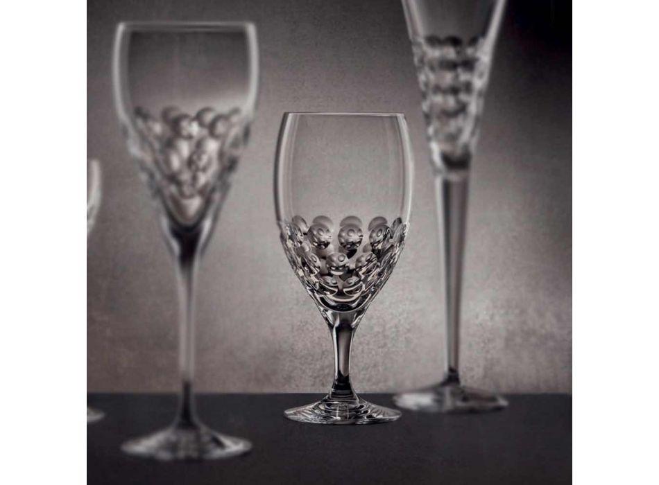 12 szklanek do piwa w ekologicznym luksusowym stylu zdobionym kryształami - Titanioball