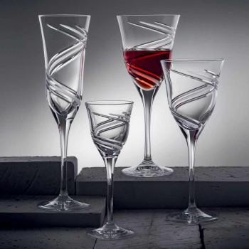 12 kieliszków do czerwonego wina w ekologicznym, kryształowym luksusie bezołowiowym - cyklon