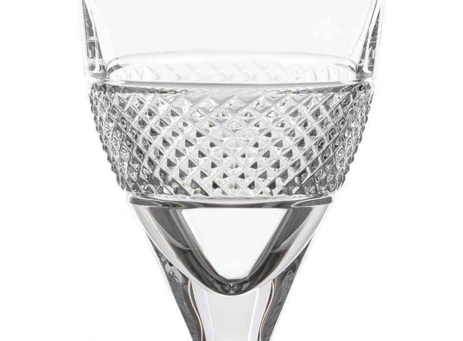 12 kieliszków do czerwonego wina w eleganckim stylu zdobionym Eco Crystal - Milito
