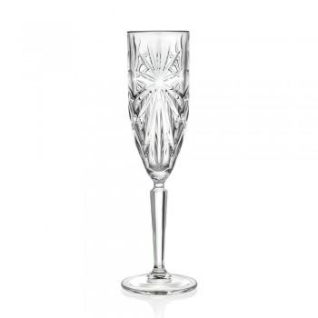 12 kieliszków do szampana lub prosecco w kolorze Eco - Daniele Crystal