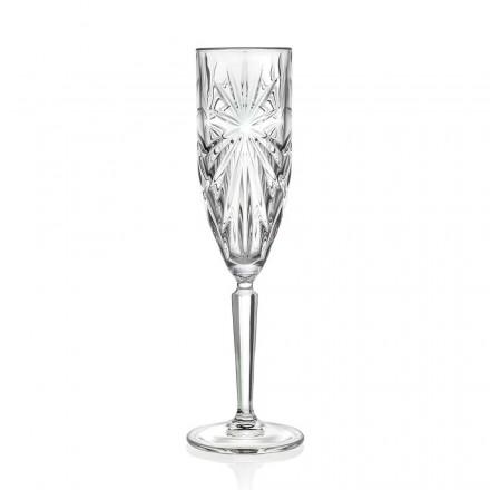 12 kieliszków do szampana lub prosecco w kolorze Eco Crystal - Daniele