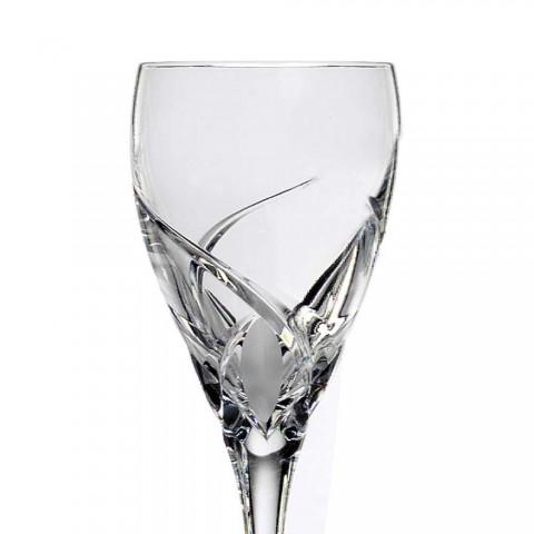 12 luksusowych kieliszków do degustacji wina z Eco Crystal - Montecristo