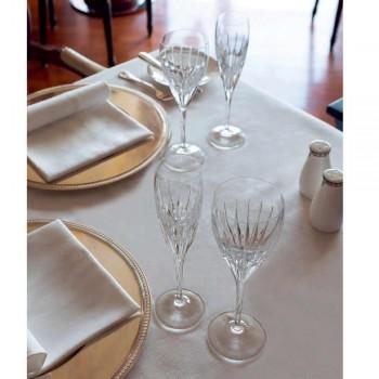 12 ręcznie zdobionych kieliszków do białego wina z ekologicznego luksusowego kryształu - Voglia