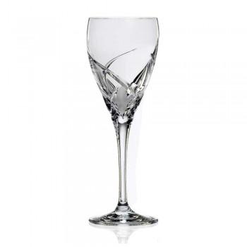 12 kieliszków do białego wina w ekologicznym luksusowym wzornictwie kryształowym - Montecristo