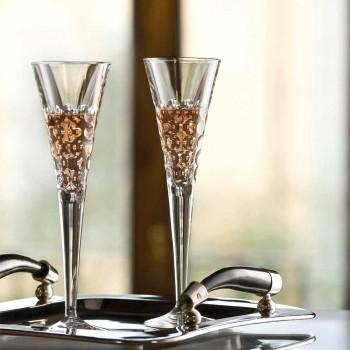 12 kieliszków do wina Fluter kieliszki do kryształowych bąbelków - Titanioball