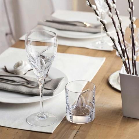 12 kieliszków do czerwonego wina w ekologicznym luksusowym wzornictwie kryształowym - Montecristo