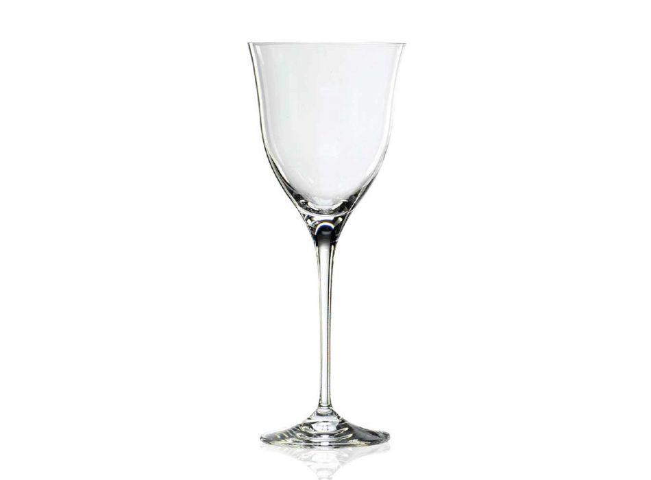 12 kieliszków do czerwonego wina w ekologicznym, luksusowym, minimalistycznym stylu kryształowym - gładkie