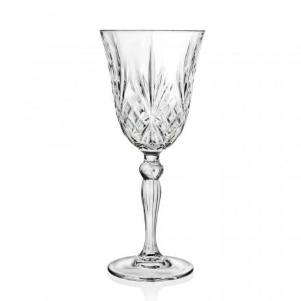 12 kieliszków wina, wody, koktajlu w stylu vintage z ekologicznego kryształu - Cantabile
