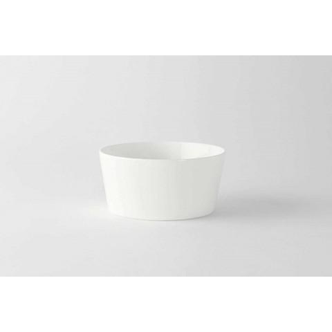 12 nowoczesnych kubków do lodów lub owoców z białej porcelany - Egle
