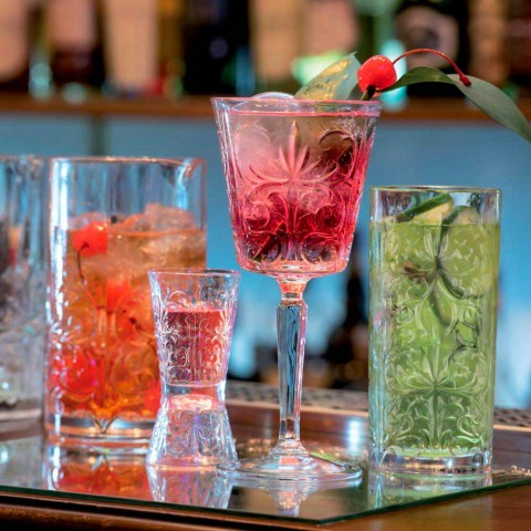 12 Tumbler Wysoka szklanka koktajlowa Highball lub luksusowo zdobiona woda - przeznaczenie