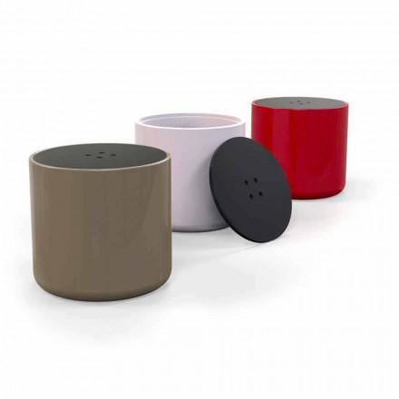 Pufa z pojemnikiem/stolik design Button, produkt Włoski