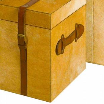 2 nowoczesne kufry w Deii jasnobrązowy kucyk