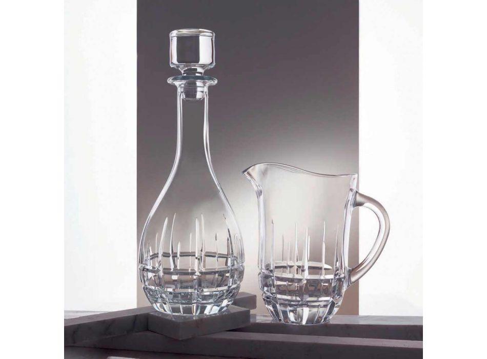 2 butelki z okrągłym korkiem do wina z ozdobnego kryształu - Fiucco