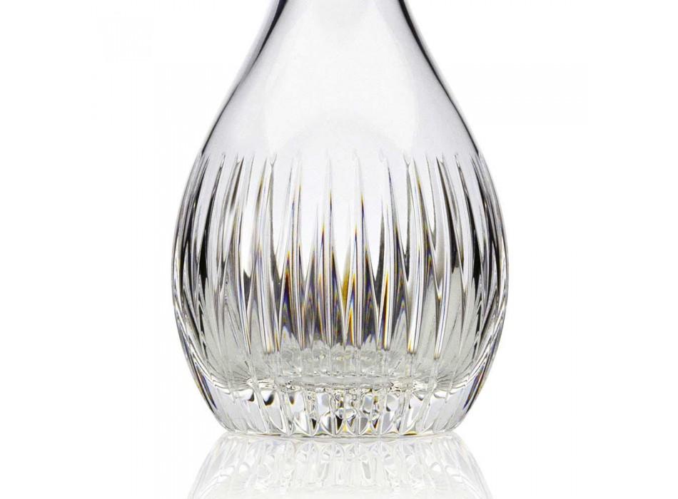 2 butelki wina z ekologicznego kryształu, ręcznie mielone Włoski luksus - Desire
