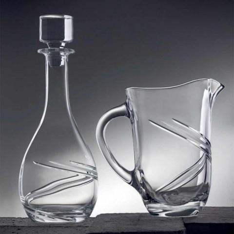 2 butelki na wino i luksusowe, ręcznie zdobione wieczko z ekokryształu - cyklon