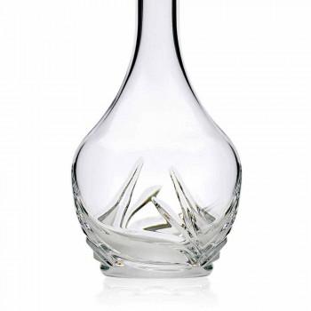 2 butelki do wina Eco Crystal z okrągłym wieczkiem i dekoracjami - Adwent