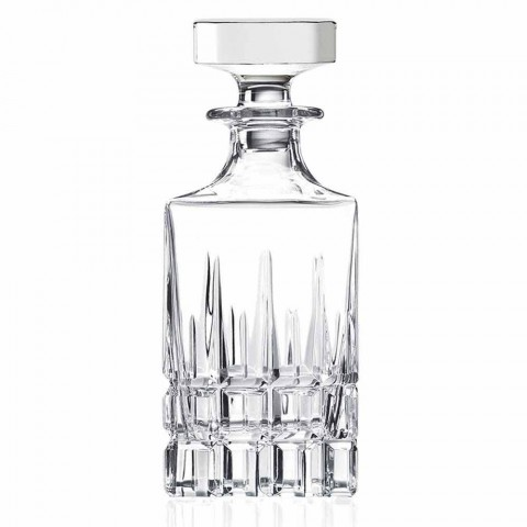 2 butelki whisky z kryształowym korkiem Kwadratowy wzór z zakrętką - Fiucco