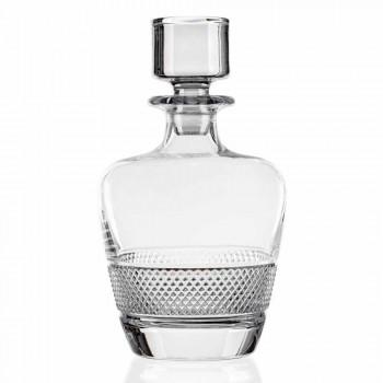 2 butelki whisky ozdobione eleganckim, ekologicznym kryształem - Milito
