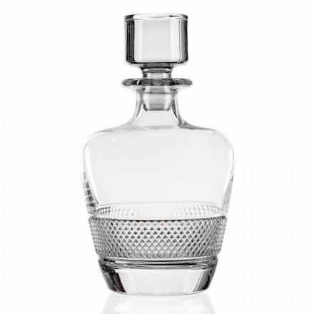 2 butelki whisky ozdobione ekologicznym kryształem Made in Italy - Milito