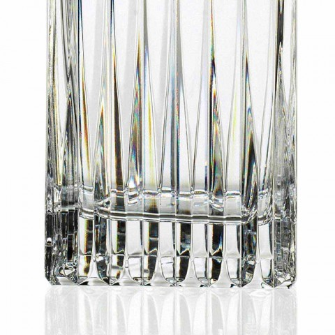 2 kryształowe butelki whisky z ręcznym mieleniem Made in Italy - Voglia