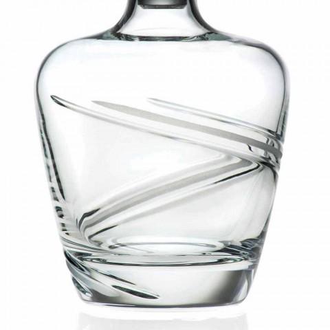 2 butelki whisky z ekologicznego kryształu włoskiego Artisan - Cyclone