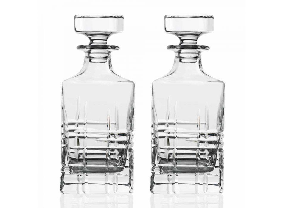 2 butelki whisky z kwadratowym wieczkiem ozdobionym kryształkami - arytmia