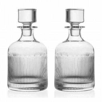 2 butelki whisky z ekologicznym kryształowym wieczkiem Vintage Design - dotykowe