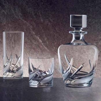 2 kryształowe butelki whisky z luksusowo zdobionym wieczkiem - Advent