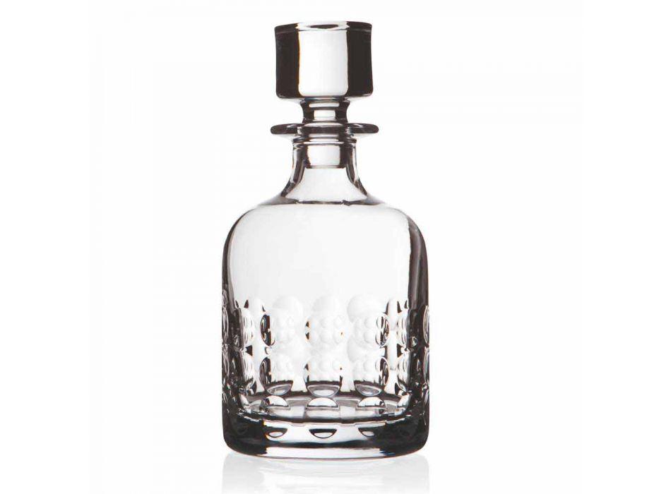 2 butelki na whisky w ekologicznym krysztale ozdobionym kapslem - titanioball