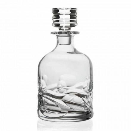 2 butelki whisky zdobione eko-kryształami z luksusowym wzorem - tytanowe