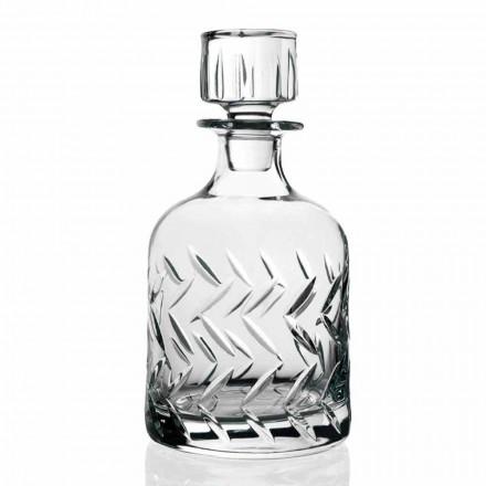 2 Ekologiczne Kryształowe Butelki Whisky z Pokrywką, Dekoracje Vintage - Arytmia