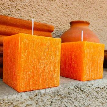 2 kwadratowe świece woskowe o różnych rozmiarach Made in Italy - Adelle